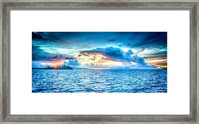 Bora Bora Sunset Framed Print by Design Turnpike