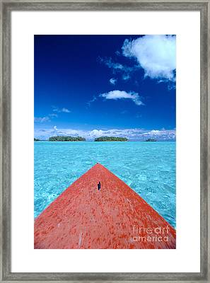 Bora Bora, View Framed Print