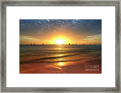 boracay,Philippians 4 Framed Print by Mark Ashkenazi