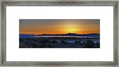 Framed Print featuring the photograph Borax Lake At Sunrise by Cat Connor