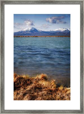 Framed Print featuring the photograph Borax Lake by Cat Connor