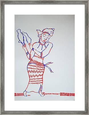 Borborbor Dance Ghana Framed Print