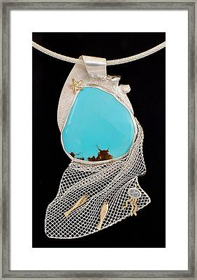 Bord De Mer Or Sea Shore Necklace Framed Print by Marie-Claire Dole