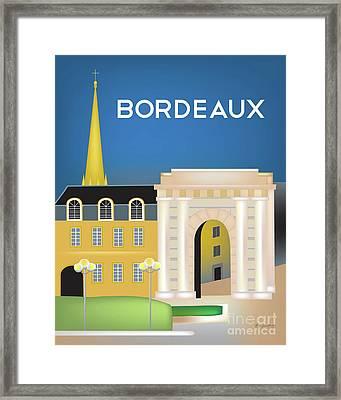 Victor Hugo Arch - Bordeaux, France Vertical Scene Framed Print