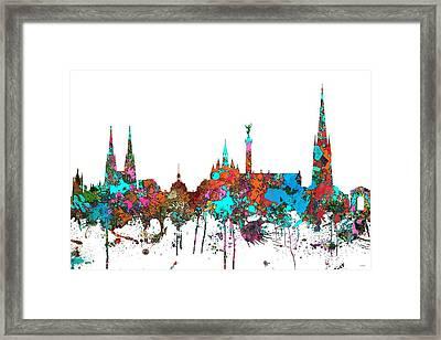 Bordeaux France  Skyline  Framed Print