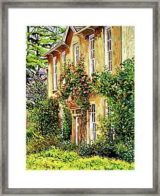 Bordeaux Garden House Framed Print by David Lloyd Glover