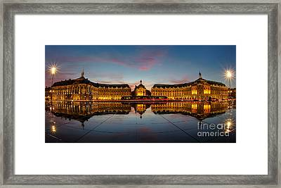 Bordeaux Reflections Framed Print