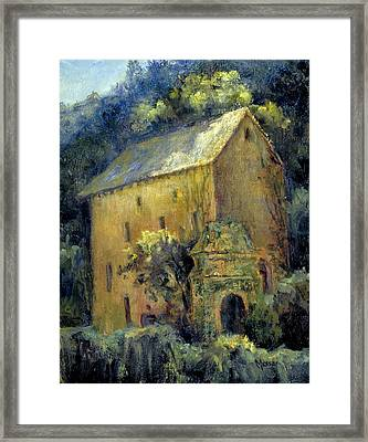 Bordeaux River Mill Framed Print
