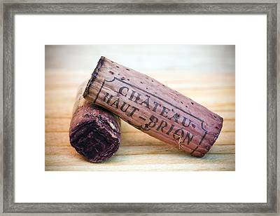 Bordeaux Wine Corks Framed Print by Frank Tschakert