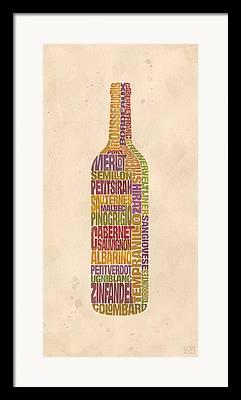 Pinot Digital Art Framed Prints