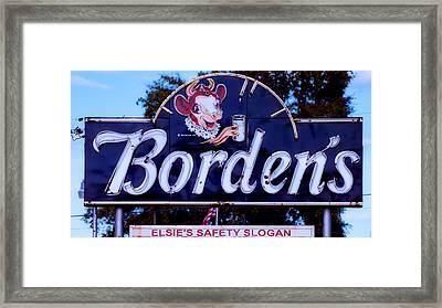 Borden's Dairy Sign Framed Print