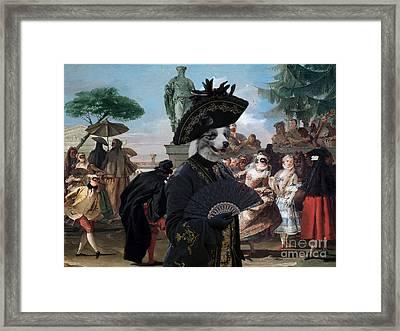 Border Collie Art Canvas Print - The Minuet Framed Print