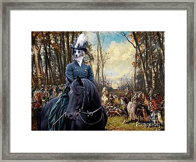 Border Collie Art Canvas Print - The Noble Hunt Party Framed Print