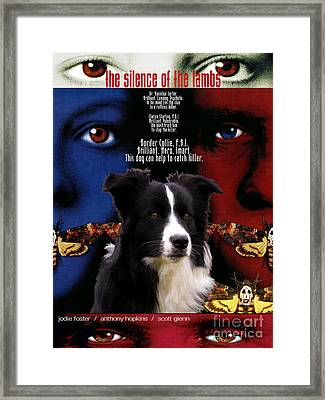 Border Collie Art Canvas Print - The Silence Of The Lambs Movie Poster Framed Print by Sandra Sij