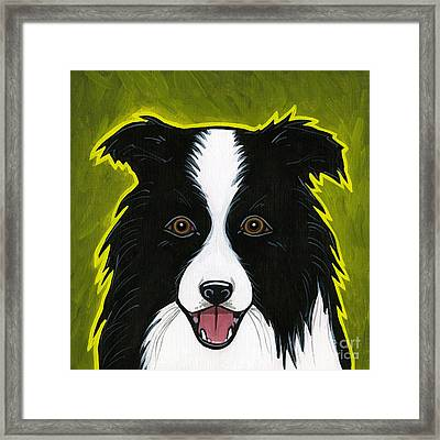 Border Collie Framed Print by Leanne Wilkes