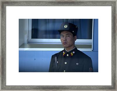 Border Guard Framed Print by Eric Foltz