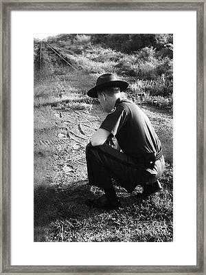 Border Patrol Inspector Framed Print by Granger