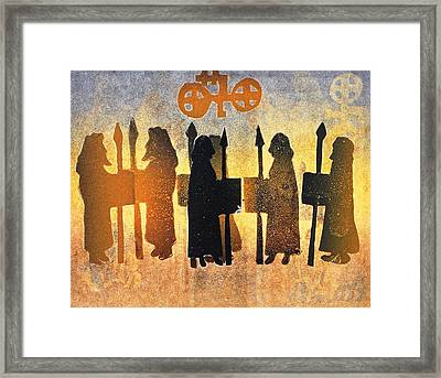 Border Picts Framed Print