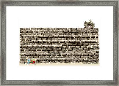 Border Wall Framed Print
