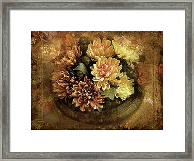Bordered Mums Framed Print by Jessica Jenney
