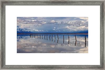 Borderline - Reflections Of Earth Framed Print by Steven Milner