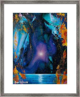 Borealis Framed Print by Angel Ortiz