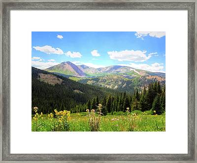 Boreas Pass Colorado Framed Print