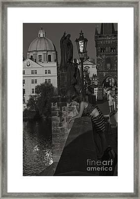 Bored Prague Vendor Framed Print