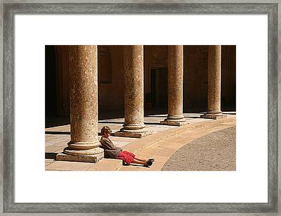 Bored With Visiting Things With My Parents Framed Print by Jez C Self