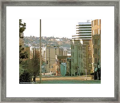 Boren Avenue Framed Print by Tobeimean Peter