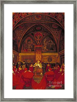 Borgia Reigns In The Vatican Framed Print