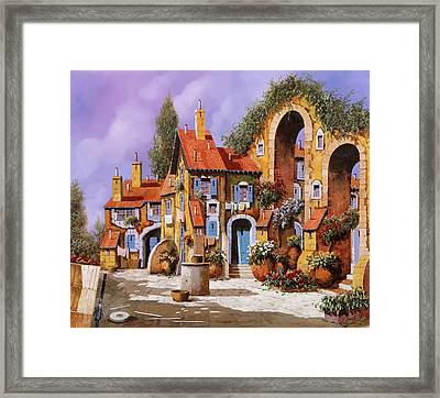 Borgo A Colori Framed Print