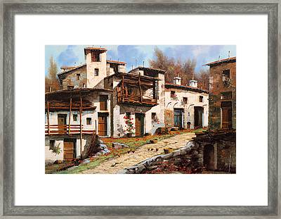 Borgo Di Montagna Framed Print by Guido Borelli