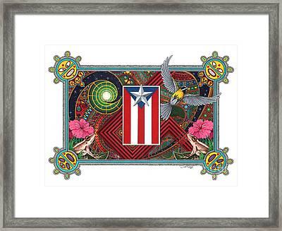 Borinquen Dreams Framed Print by Daniel Ramirez