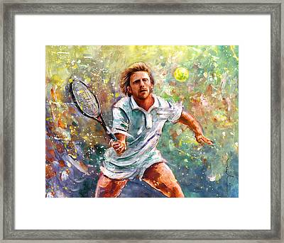 Boris Becker Framed Print by Miki De Goodaboom