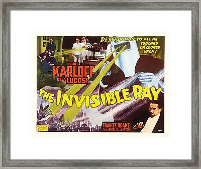 Boris Karloff And Bela Lugosi In The Invisible Ray 1936 Framed Print by Mountain Dreams