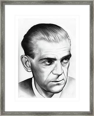 Boris Karloff Framed Print by Greg Joens