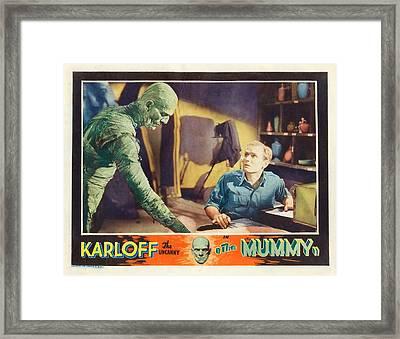 Boris Karloff In The Mummy 1932 Framed Print