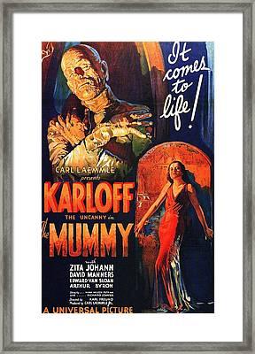 Boris Karloff In The Mummy 1932 Framed Print by Mountain Dreams