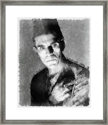Boris Karloff Framed Print by Esoterica Art Agency