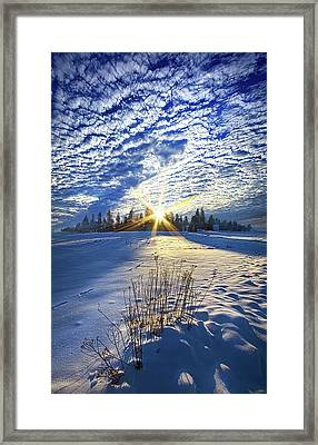 Framed Print featuring the photograph Born As We Are by Phil Koch