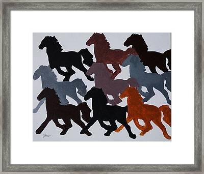 Born Free Framed Print by Joseph Frank Baraba