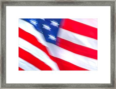 Born In The Usa Framed Print by Az Jackson