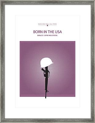 Born In The Usa -- Bruce Springsteen Framed Print by David Davies