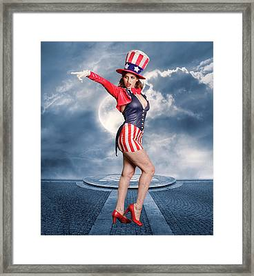 Born In The Usa Framed Print