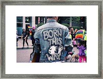 Born This Way Framed Print by Livi Saunders