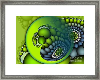 Framed Print featuring the digital art Born To Be Green by Jutta Maria Pusl