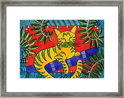 Born To Be Striped Framed Print