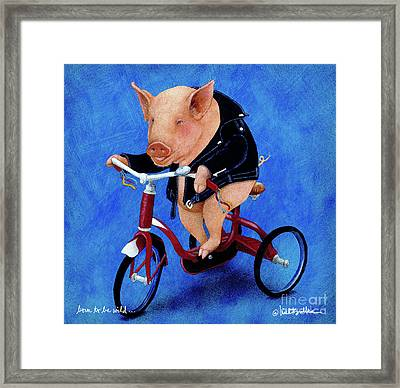 Born To Be Wild... Framed Print by Will Bullas