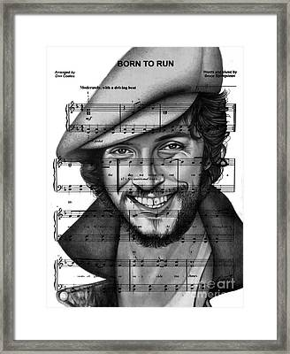 Born To Run Framed Print by Alan Zinn